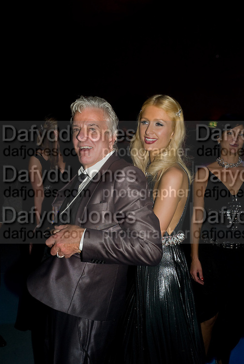 PARIS HILTON; NICKY HASLAM, Nicky Haslam party for Janet de Bottona nd to celebrate 25 years of his Design Company.  Parkstead House. Roehampton. London. 16 October 2008.  *** Local Caption *** -DO NOT ARCHIVE-© Copyright Photograph by Dafydd Jones. 248 Clapham Rd. London SW9 0PZ. Tel 0207 820 0771. www.dafjones.com.