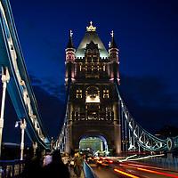 Night photography at the London Bridge