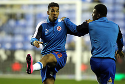 Nick Blackman of Reading FC and Aaron Tshibola of Reading FC warm up - Mandatory byline: Robbie Stephenson/JMP - 07966 386802 - 22/09/2015 - FOOTBALL - Madejski Stadium - Reading, England - Reading v Everton - Capital One Cup
