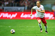 Warsaw, Poland - 2017 September 04: Kamil Grosicki from Poland controls the ball during soccer match Poland v Kazakhstan - FIFA 2018 World Cup Qualifier at PGE National Stadium on September 04, 2017 in Warsaw, Poland.<br /> <br /> Adam Nurkiewicz declares that he has no rights to the image of people at the photographs of his authorship.<br /> <br /> Picture also available in RAW (NEF) or TIFF format on special request.<br /> <br /> Any editorial, commercial or promotional use requires written permission from the author of image.<br /> <br /> Mandatory credit:<br /> Photo by © Adam Nurkiewicz / Mediasport
