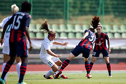Ana Milovic of ZNK Olimpija Ljubljana and Anna Pilipenko of FC Minsk during football match between FC Minsk and ZNK Olimpija Ljubljana in 2nd Qualifying Group of UEFA Women's Champions League 2018/19, on August 7, 2018 in Stadion ZAK, Ljubljana, Slovenia. Photo by Urban Urbanc / Sportida