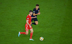 CARDIFF, WALES - Sunday, October 13, 2019: Wales' Ben Davies during the UEFA Euro 2020 Qualifying Group E match between Wales and Croatia at the Cardiff City Stadium. (Pic by Paul Greenwood/Propaganda)