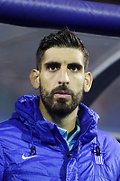 ZAGREB, CROATIA - NOVEMBER 09:  Portrait of Giannis Anestis of Greece controls the ball during the FIFA 2018 World Cup Qualifier play-off first leg match between Croatia and Greece at Maksimir Stadium on November 9, 2017 in Zagreb, Croatia. (Luka Stanzl/PIXSELL)