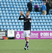 Rory Loy applauds the travelling support at full time - Kilmarnock v Dundee - Ladbrokes Scottish Premiership at Rugby Park<br /> <br />  - &copy; David Young - www.davidyoungphoto.co.uk - email: davidyoungphoto@gmail.com
