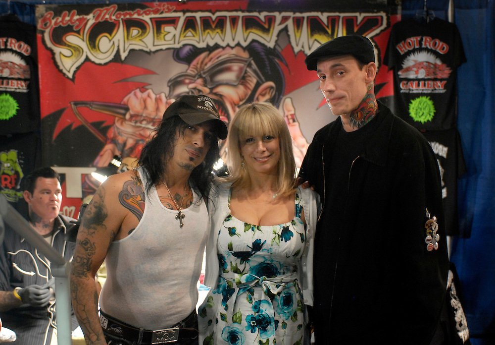 New York City Tattoo Convention 2009 at the Roseland Ballroom: Screaming Ink's Billy Munroe with his wife Jodi Monroe and Jeremy Miller