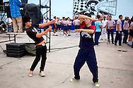 Dancing at a high school in Holguin, Cuba.