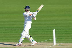 Glamorgan's Craig Meschede flicks the ball. - Photo mandatory by-line: Harry Trump/JMP - Mobile: 07966 386802 - 21/04/15 - SPORT - CRICKET - LVCC County Championship - Division 2 - Day 3 - Glamorgan v Surrey - Swalec Stadium, Cardiff, Wales.