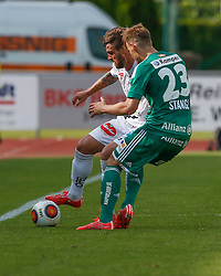 31.05.2015, Stadion Wolfsberg, Wolfsberg, AUT, 1. FBL, RZ Pellets WAC vs SK Rapid Wien, 35. Runde, im Bild v.l. Manuel Seidl (RZ Pellets WAC) und Stefan Stangl (SK Rapid Wien) // during the Austrian Football Bundesliga 35th Round match between RZ Pellets WAC and SK Rapid Vienna at the Stadium Wolfsberg in Wolfsberg Austria on 2015/05/31, EXPA Pictures © 2015, PhotoCredit: EXPA/ Wolfgang Jannach