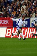 06.10.2001, Arena AufSchalke, Gelsenkirchen, Germany. FIFA World Cup Qualifying Match, Germany v Finland. Shefki Kuqi (FIN)..©JUHA TAMMINEN