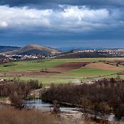 A scenery view on Brassac la Mine in Auvergne, France.