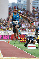 Christian Taylor of United States competes and wins in Triple Jump Men during the International Athletics Meeting Herculis, IAAF Diamond League, Monaco on July 17, 2015 at Louis II  stadium in Monaco, France - Photo Jean-Marie Hervio / KMSP / DPPI