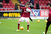 during the Sky Bet League 2 match between Northampton Northampton Town Defender Luke Prosser Town and York City at Sixfields Stadium, Northampton, England on 6 February 2016. Photo by Dennis Goodwin.