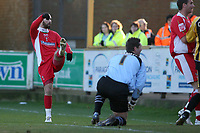 Photo: Pete Lorence.<br />Nottingham Forest v Yeovil Town. Coca Cola League 1. 13/01/2007.<br />Christian Roberts slams the ball into the back of the net.