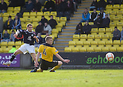 Dundee's Jamie McCluskey fires home the opener - Livingston v Dundee, IRN BRU Scottish Football League, First Division - ..© David Young - .5 Foundry Place - .Monifieth - .Angus - .DD5 4BB - .Tel: 07765 252616 - .email: davidyoungphoto@gmail.com.web: www.davidyoungphoto.co.uk