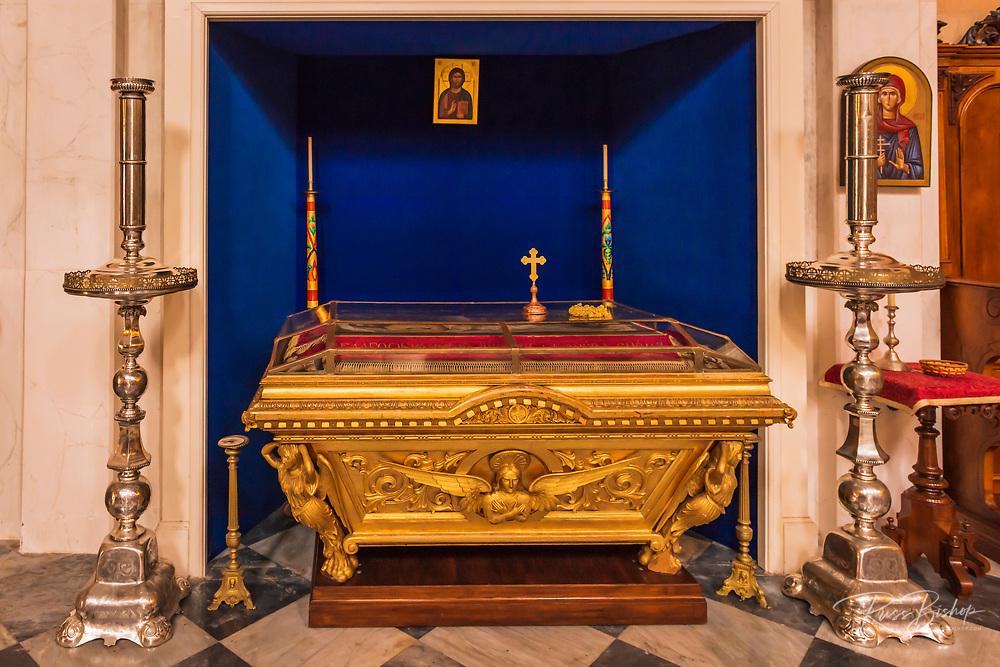 Tomb in the Church of the Holy Annunciation, Dubrovnik, Dalmatian Coast, Croatia