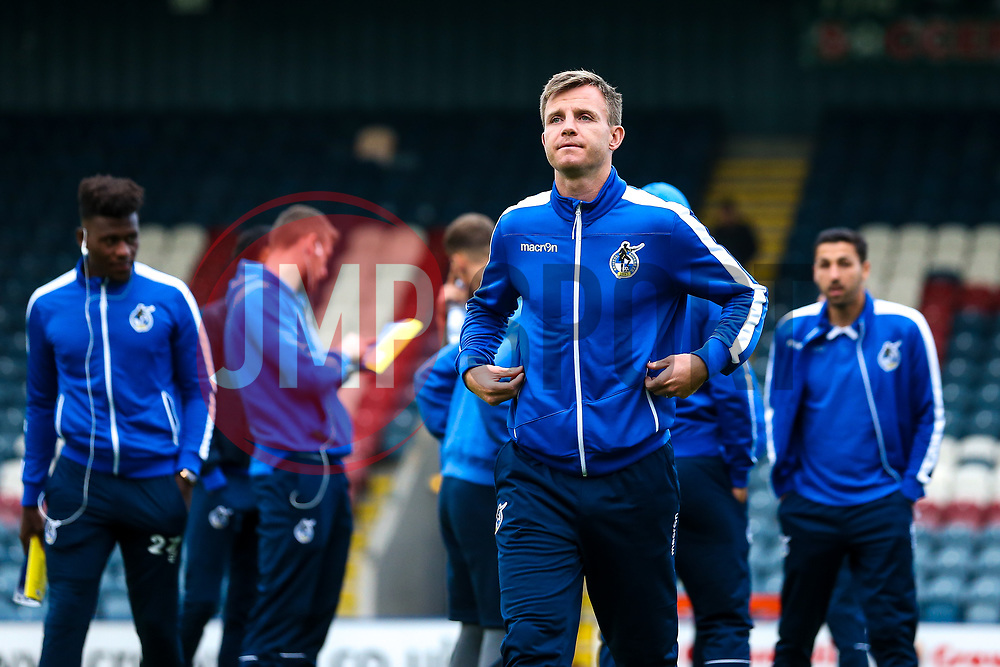 Tony Craig of Bristol Rovers arrives at The Crown Oil Arena for the Sky Bet League One fixture with Rochdale - Mandatory by-line: Robbie Stephenson/JMP - 02/10/2018 - FOOTBALL - Crown Oil Arena - Rochdale, England - Rochdale v Bristol Rovers - Sky Bet League One