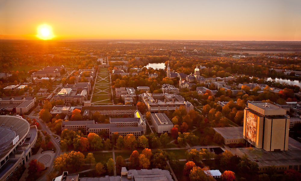 Campus aerial..Photo by Matt Cashore