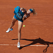 Maria Sharapova, Russia in action during her loss to Dominka Cibulkova, Slovakia, in the Women's quarter Final match at the French Open Tennis Tournament at Roland Garros, Paris, France on Tuesday, June 2, 2009. Photo Tim Clayton.