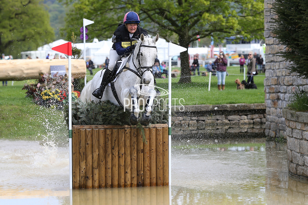 Patricia Pytches on Ces Ballycar Chip during the International Horse Trials at Chatsworth, Bakewell, United Kingdom on 13 May 2018. Picture by George Franks.