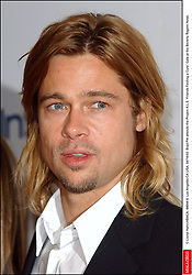 © Lionel Hahn/ABACA. 44644-8. Los Angeles-CA-USA. 04/14/03. Brad Pitt attends the Project A.L.S Friends Finding a Cure Gala at the Beverly Regent Hotel.  Pitt Brad Barbe Bouc Barbiche Beard Seule Seul Seuls Seules Alone Soiree Party Los Angeles USA United States of America Vereinigte Staaten von Amerika Etats-Unis Etats Unis Headshot Portraits Portrait Headshots Head Shot Head Shots Vertical Vertical  | 44644_08