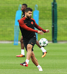 Sergio Aguero of Manchester City  - Mandatory by-line: Matt McNulty/JMP - 12/09/2016 - FOOTBALL - Manchester City - Training session ahead of Champions League Group C match against Borussia Monchengladbach
