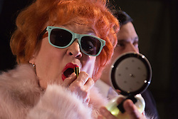 © Licensed to London News Pictures. 03/02/2016. I Loved Lucy, a play remembering Lucille Ball by Lee Tannen, starring Sandra Dickinson as Lucy and Matthew Bunn as Lee opens at the Jermyn Street Theatre. The comedy directed by Anthony Biggs runs from 2 to 27 February 2016. London, UK. Photo credit: Bettina Strenske/LNP