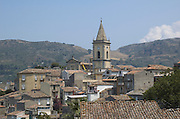 The Cathedral and houses at Novara di Sicilia, province of Messina Sicily, Italy July 2006