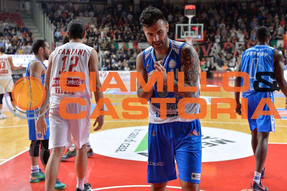 DESCRIZIONE : Varese, Lega A 2015-16 Openjobmetis Varese Dinamo Banco di Sardegna Sassari<br /> GIOCATORE : Brian Sacchetti<br /> CATEGORIA : Esultanza<br /> SQUADRA : Dinamo Banco di Sardegna Sassari<br /> EVENTO : Campionato Lega A 2015-2016<br /> GARA : Openjobmetis Varese vs Dinamo Banco di Sardegna Sassari<br /> DATA : 26/10/2015<br /> SPORT : Pallacanestro <br /> AUTORE : Agenzia Ciamillo-Castoria/I.Mancini<br /> Galleria : Lega Basket A 2015-2016 <br /> Fotonotizia : Varese  Lega A 2015-16 Openjobmetis Varese Dinamo Banco di Sardegna Sassari<br /> Predefinita :