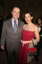 The Brazilian Ambassador SENHOR SERGIO SILVA DO AMARAL and SENHORA SILVA DO AMARAL, at a reception in London on 13th November 2000.OIZ 39