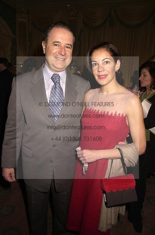 The Brazilian Ambassador SENHOR SERGIO SILVA DO AMARAL and SENHORA SILVA DO AMARAL, at a reception in London on 13th November 2000.OIZ 39