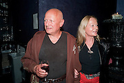 STEPHEN BERKOFF; CLARA FISHER, The Old Vic at the Vaudeville Theatre ' The Prisoner of Second Avenue'  press night. After-party at Jewel. 13 July 2010. -DO NOT ARCHIVE-© Copyright Photograph by Dafydd Jones. 248 Clapham Rd. London SW9 0PZ. Tel 0207 820 0771. www.dafjones.com.