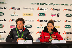 Marc Boblet and Kristina Sprehe - Grand Prix Team Competition Dressage - Alltech FEI World Equestrian Games™ 2014 - Normandy, France.<br /> © Hippo Foto Team - Leanjo de Koster<br /> 25/06/14