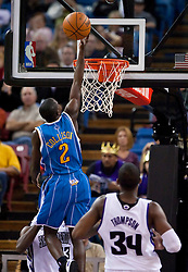 November 29, 2009; Sacramento, CA, USA;  New Orleans Hornets guard Darren Collison (2) shoots against the Sacramento Kings during the fourth quarter at the ARCO Arena.  Sacramento defeated New Orleans 112-96.