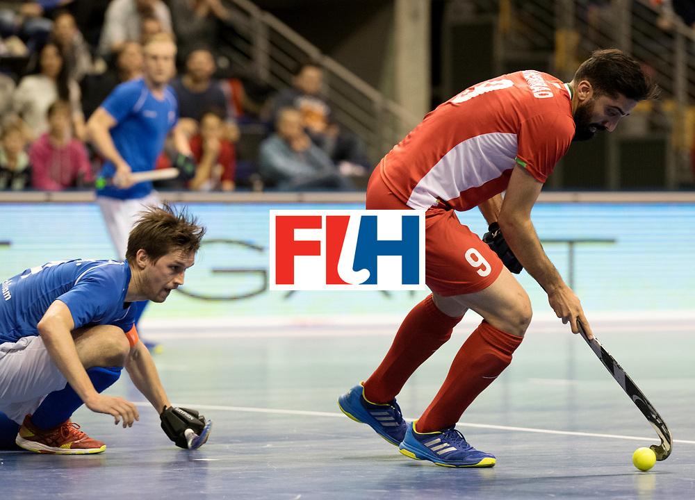 BERLIN - Indoor Hockey World Cup<br /> Quarterfinal 1: Iran - Czech Republic<br /> foto: TAHERIRAD Navid.<br /> WORLDSPORTPICS COPYRIGHT FRANK UIJLENBROEK