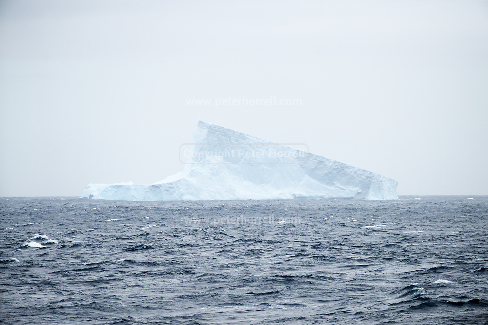 An iceberg in the sea en route to Antarctica from the Falkland Islands on Wednesday 14 February 2018.