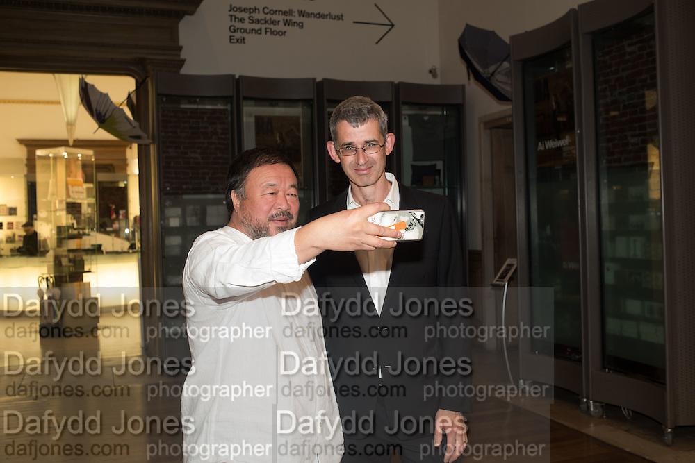 AI WEIWEI; EDMUND DE WAAL, Ai Weiwei, Royal Academy, Piccadilly. London.  15 September 2015.
