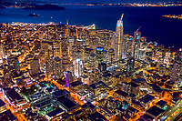 Downtown SF, Aerial @ Night