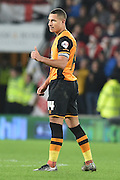 Jake Livermore of Hull City celebrates scoring for Hull City to go 1-0 up during the Sky Bet Championship match between Hull City and Burnley at the KC Stadium, Kingston upon Hull, England on 26 December 2015. Photo by Ian Lyall.