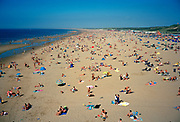 Dutch coast at Scheveningen beach, The Hague, Netherlands. Holland Kodak Ektar collection.
