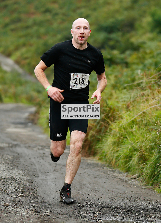 Craggy Island Triathlon, Isle of Kerrera..Gavin Blainey nearing end of running section of triathlon..(c) STEPHEN LAWSON   StockPix.eu