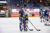 2020-01-17 | Rauma, Finland : Lukko (3) Lukas Klok and Kärpät (63) Jakub Krejcik after the game between Lukko-Kärpät in Kivikylän Areena ( Photo by: Elmeri Elo | Swe Press Photo )