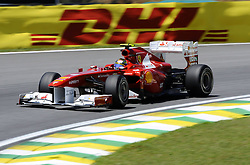 25.11.2011 Autodromo Jose Carlos Pace, Sao Paulo, BRA, F1 Grosser Preis von Brasilien, im Bild DHL Branding - Felipe Massa (BRA), Scuderia Ferrari // during the Formula One Championships 2011 Large price of Abu Dhabi held at the Yas-Marina-Circuit, 2011/11/12. EXPA Pictures © 2011, PhotoCredit: EXPA/ nph/ Dieter Mathis..***** ATTENTION - OUT OF GER, CRO *****