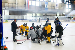 Anze Kopitar and kids during practice at Hockey Academy of Anze Kopitar and Tomaz Razingar, on July 4, 2018 in Ice Hockey arena Bled, Slovenia. Photo by Vid Ponikvar / Sportida