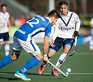 UTRECHT - Kampong v Pinoke<br /> Hoofdklasse heren<br /> Foto: Martijn Havenga (l) and Marlon de Boer.<br /> WORLDSPORTPICS COPYRIGHT FRANK UIJLENBROEK