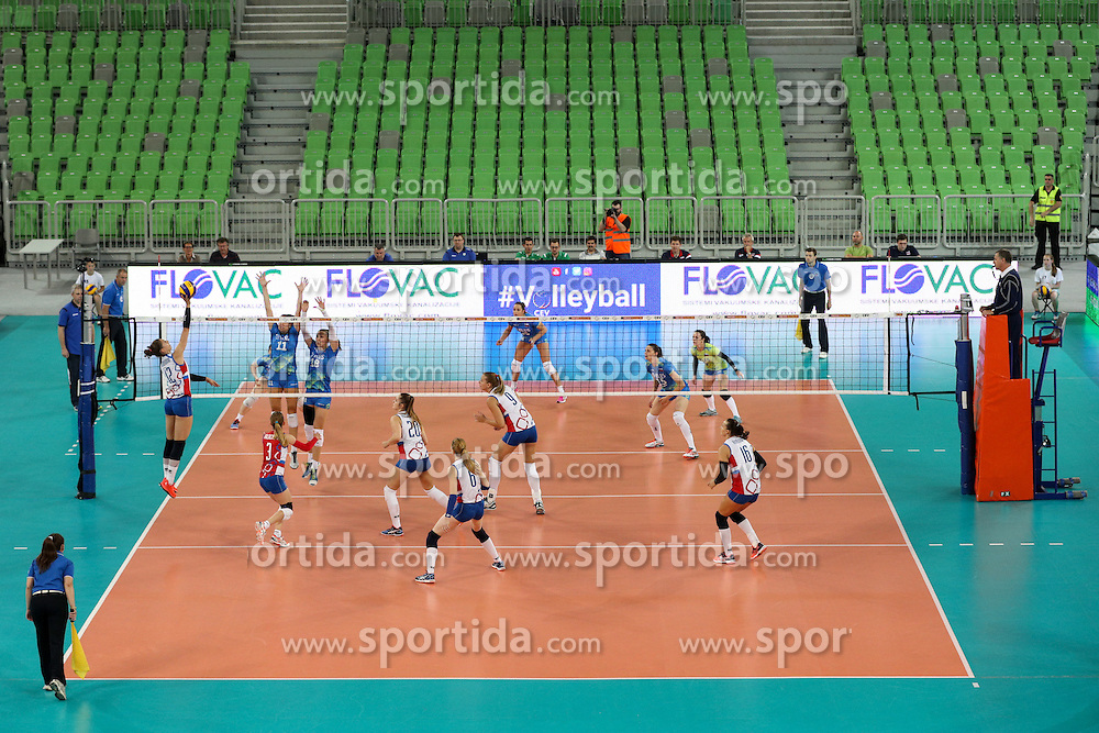 View on the court during volleyball match between Slovenia and Slovakia in CEV European League Women on June 22, 2016 in Stozice, Ljubljana, Slovenia. Photo by Morgan Kristan / Sportida