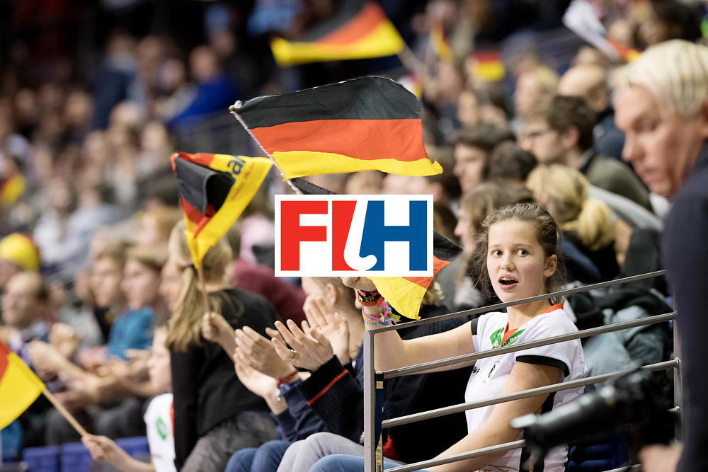BERLIN - Indoor Hockey World Cup<br /> Women: Czech Republic - Germany<br /> foto: German fans.<br /> WORLDSPORTPICS COPYRIGHT FRANK UIJLENBROEK