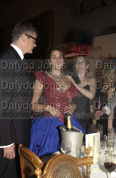 Jay Jopling, Sam Taylor Wood, Tracey Emin Moet and Chandon fashion tribute to Philip treacy. V. & a. 16 April 2002. © Copyright Photograph by Dafydd Jones 66 Stockwell Park Rd. London SW9 0DA Tel 020 7733 0108 www.dafjones.com
