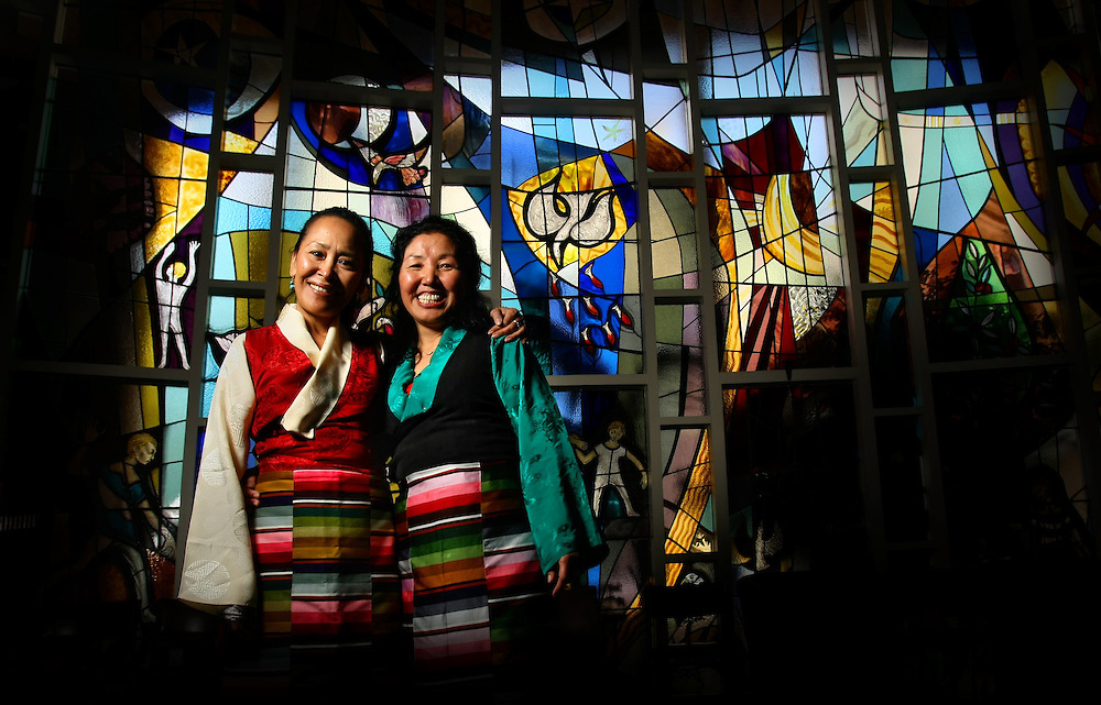 Dorji Dolma (left) and Kelsang Wangmo, two Tibetan women who were involved in Beijing Protest of Silence 15yrs ago - Pic By Craig Sillitoe 07/08/2010 melbourne photographers, commercial photographers, industrial photographers, corporate photographer, architectural photographers, This photograph can be used for non commercial uses with attribution. Credit: Craig Sillitoe Photography / http://www.csillitoe.com<br />