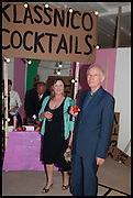 FIONA REID-TURNER; CHRISTOPHER TURNER, Matt's Gallery 35th birthday fundraising supper.  42-44 Copperfield Road, London E3 4RR. 12 June 2014.