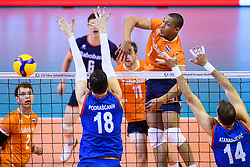 06-01-2020 NED: CEV Tokyo Volleyball European Qualification Men, Berlin<br /> Match Serbia vs. Netherlands 3-0 / Fabian Plak #8 of Netherlands